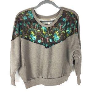 Free People | Floral Print Pullover Sweatshirt